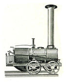 Engine of Cherepanov bovers, Russia, 1834 — Stock Photo