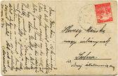 Ručně psaný text v maďarštině, cca 1914 — Stock fotografie