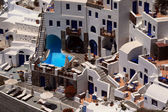 Hotel on Santorini island — Stock Photo