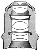 Lens of the microscope — Stock Photo