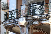 Balcony of the old hotel — Stock Photo