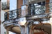 Balcón del antiguo hotel — Foto de Stock