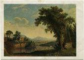 Painting by Philipp Hackert - Antique Landscape — Stock Photo