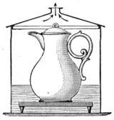 Pot to heat milk in a water bath — Stock Photo