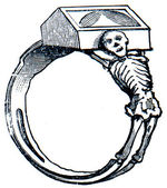 Ring with the skeleton, England — Stock Photo