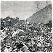 витой лавой везувия — Стоковое фото
