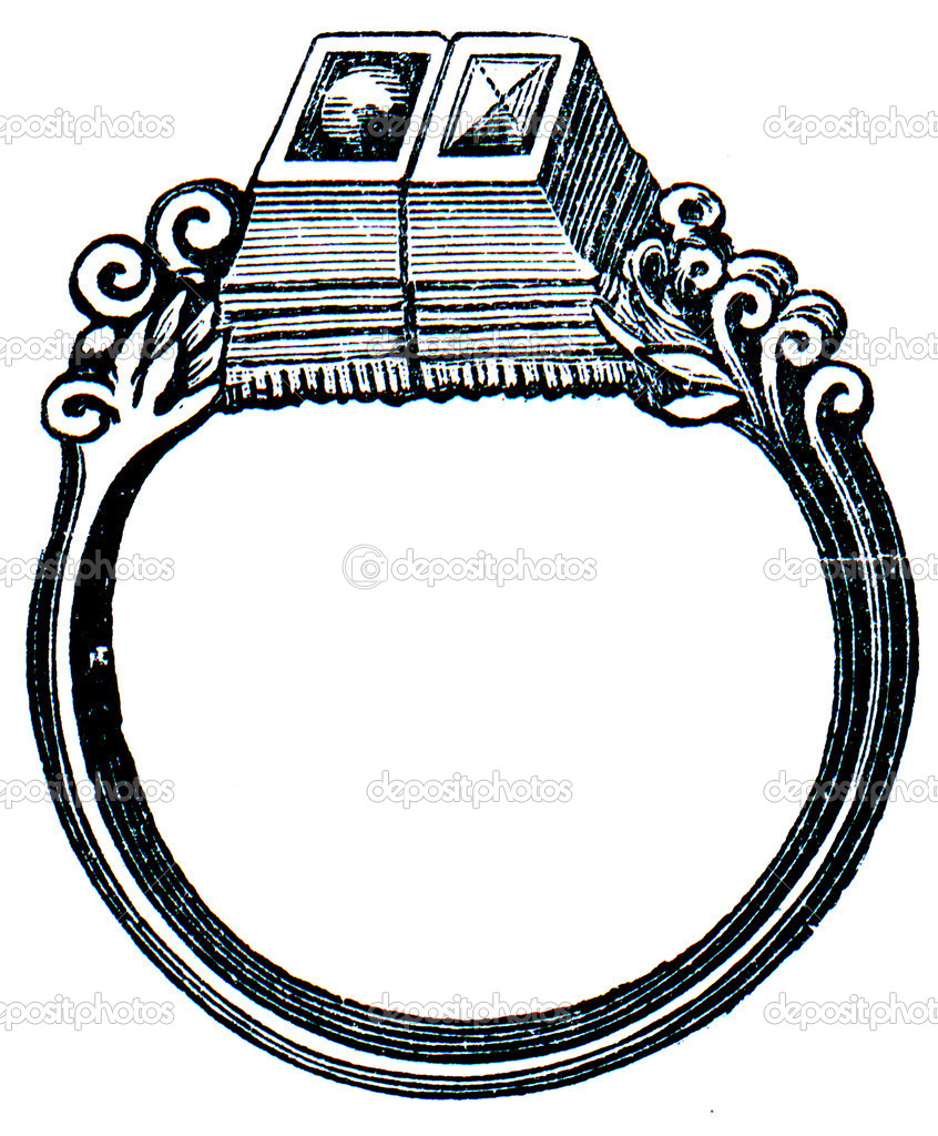 Wedding-ring Martin Luther, Saxony, 15 century - an illustration of the encyclopedia publishers Education, St. Petersburg, Russian Empire, 1896  Stock Photo #11878216