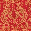 Red crispy oriental style decor — Stock Photo