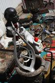 Bleší trh, lugansk, ukrajina — Stock fotografie