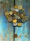 各种硬币 — 图库照片