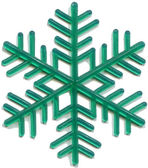 Snowflake plastic toy was released in the 70s of last century — Stock Photo
