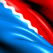 Flag of Amur Oblast, Russia. - Stock Photo