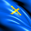 Principality of Asturias Flag, Spain. - Stock Photo