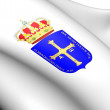 Asturias Coat of Arms, Spain. - Stock Photo