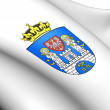 Stock Photo: Flag of Poznan, Poland.