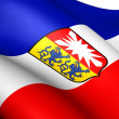 Flag of Schleswig-Holstein, Germany. — Stock Photo