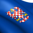 Flag of Moravia — Stock Photo