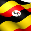Flag of Uganda — Stock Photo #10916788