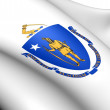 Flag of Massachusetts, USA. — Foto de Stock
