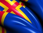 Flag of Aland Islands — Foto Stock