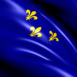 Flag of Ile-de-France, France. — Stock Photo