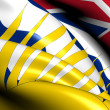 Stock Photo: Flag of British Columbia, Canada.