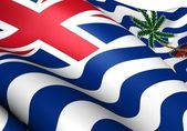 Flag of British Indian Ocean Territory — Stock Photo