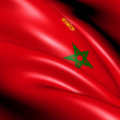 Civil Ensign of Morocco — Stock Photo #11462822