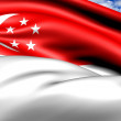 Stock Photo: Flag of Singapore