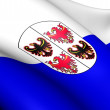 Stock Photo: Trentino-Alto Adige Flag, Italy.