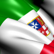 Civil Ensign of Italy — Stock Photo