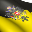Flag of Austrian Empire (1815) - Stock Photo