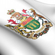 Stock Photo: Saskatchewan Coat of Arms, Canada.
