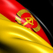 Flag of German Democratic Republic - Stock Photo