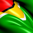 Flag of Guyana - Stock Photo