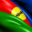 Flag of New Caledonia - Stock Photo