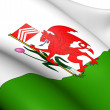 Flag of Cardiff, Wales. — Stock Photo