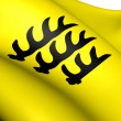 Stock Photo: County of Wurttemberg Flag (1083-1495)