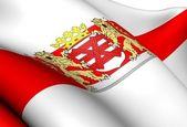 Bandiera di enschede, paesi bassi. — Foto Stock