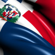 Flag of Dominican Republic — Stockfoto