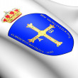 Asturias Coat of Arms, Spain. — Stock Photo