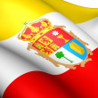 Flag of Cuenca, Spain. - Stock Photo