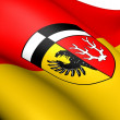 Royalty-Free Stock Photo: Flag of Wunsiedel, Germany.
