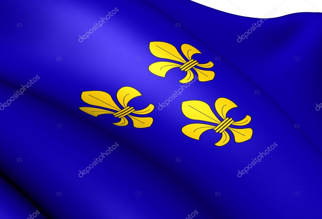 Flag of Wiesbaden, Germany. Close Up. — Stock Photo #12256033