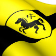 Flag of Herne, Germany. - Stock Photo