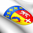 Rhone-Alpes Coat of Arms, France. — Stock Photo