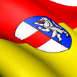 Flag of Sankt Poelten, Austria. — Stock Photo