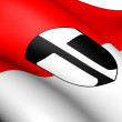 Flag of Traun, Austria. - Stock Photo