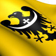 Flag of Lower Silesian Voivodeship, Poland. - Stock Photo
