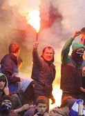 FC Dynamo Kyiv ultra supporters — Stockfoto